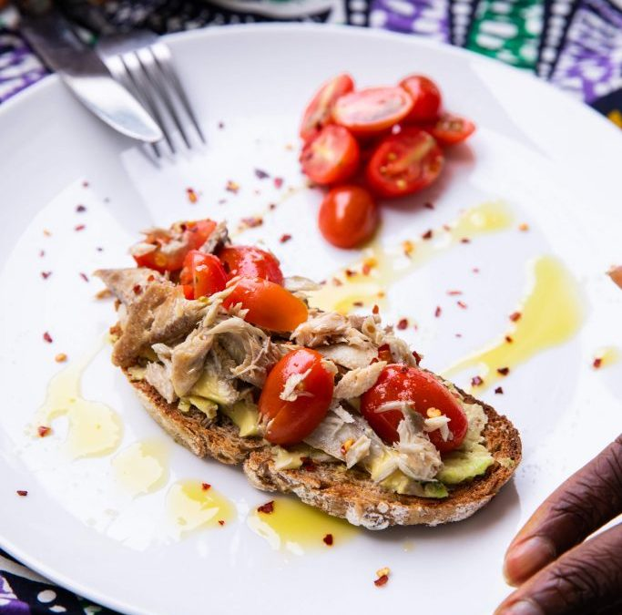 Mackerel on toast….