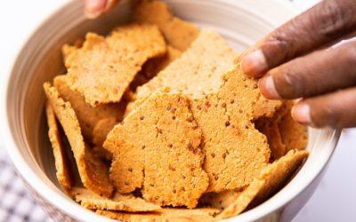 Delicious Almond Crackers. 3 ingredients.