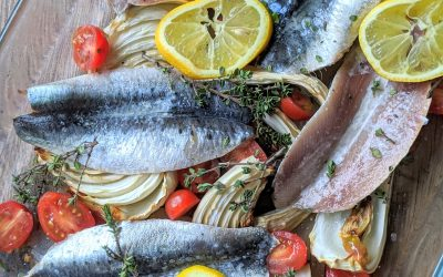 Lemon Roasted Fennels and Sardines